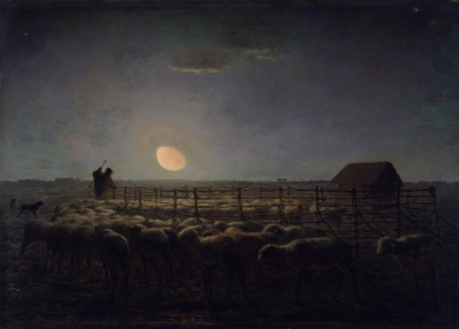 Jean-François_Millet_-_The_Sheepfold,_Moonlight_-_Walters_3730